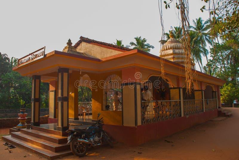 Ein Tempel in Goa Arambol Indien stockfotografie