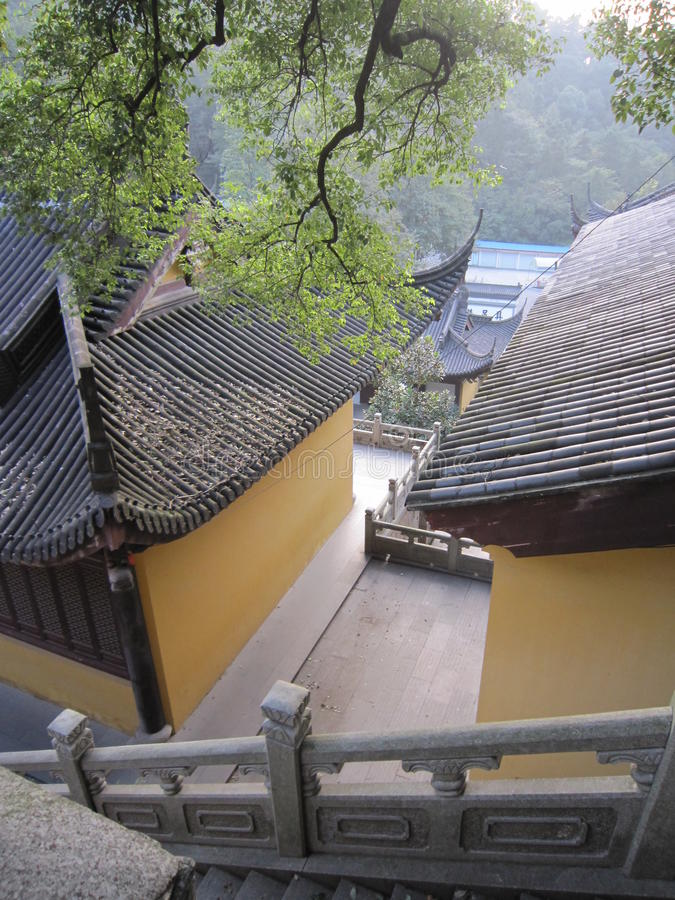 Ein Tempel in Hangzhou stockbilder