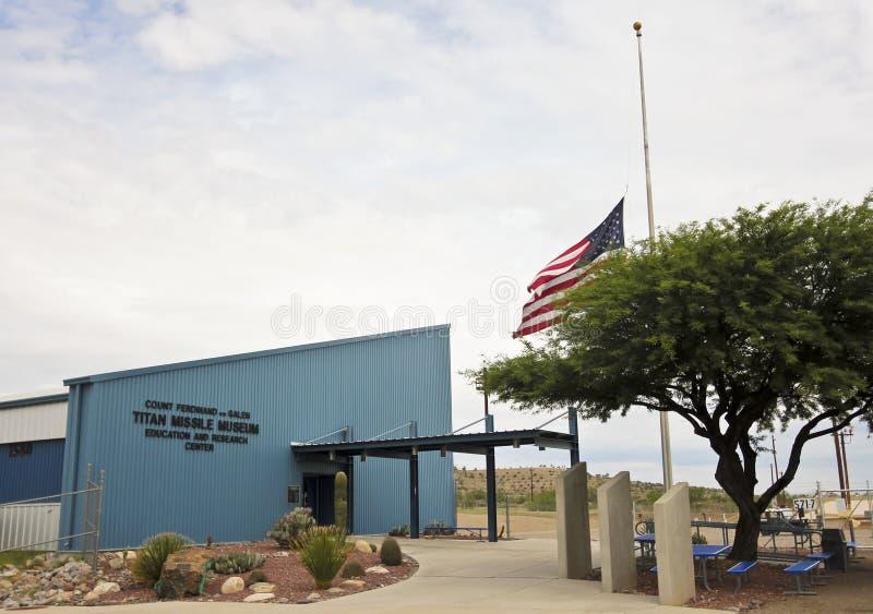 Ein Titan-Flugmuseums-Eingang, Sahuarita, Arizona stockfotos