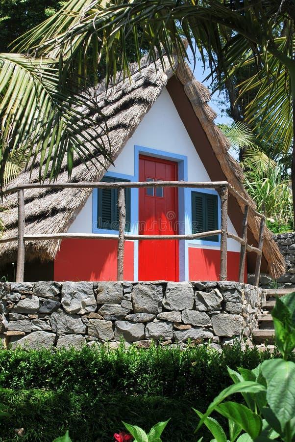 Ein typisches Haus in Madeira lizenzfreie stockfotografie