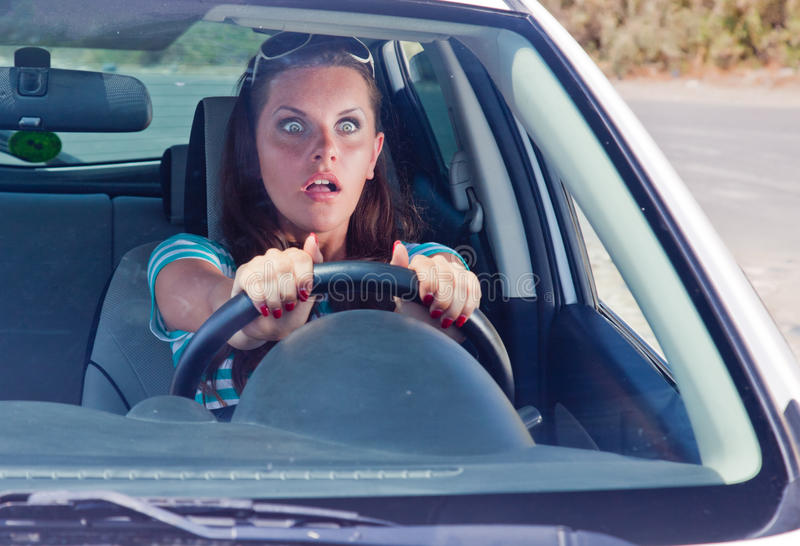 Ein Unfall auf der Straße stockbilder