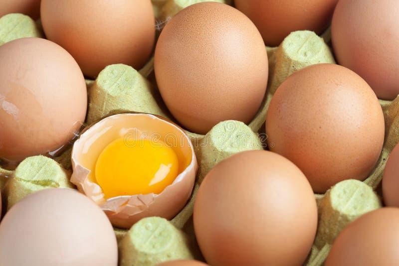 Ein unterbrochenes Ei stockfoto