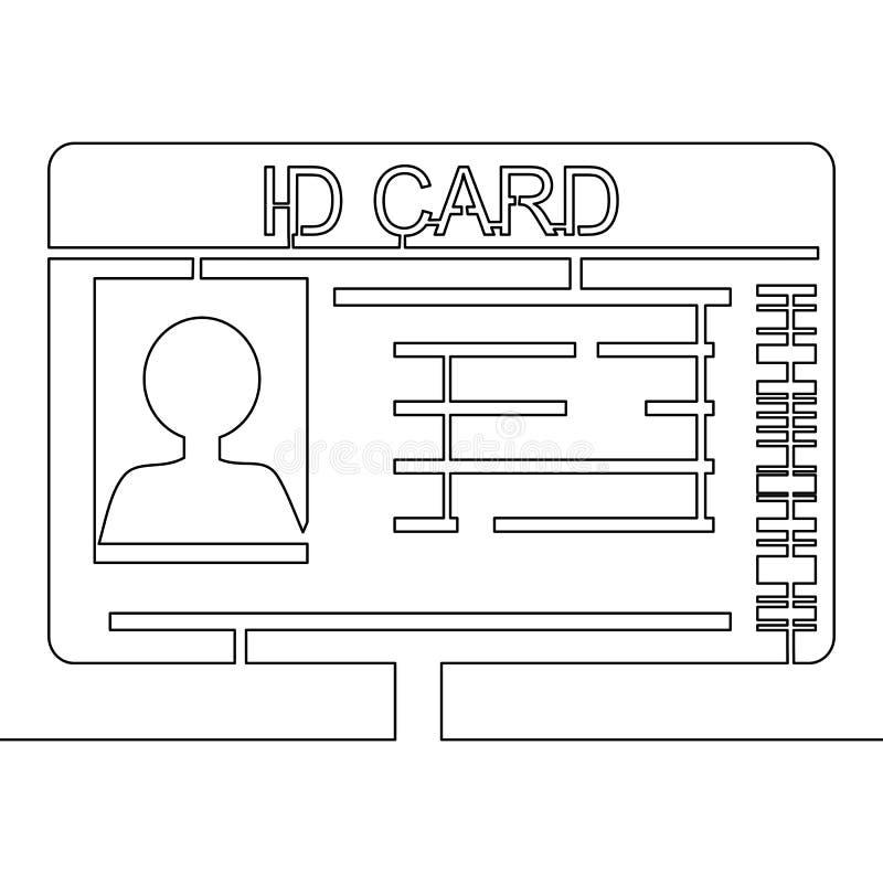 Ein ununterbrochenes Federzeichnung Ausweis-Vektor lizenzfreie abbildung