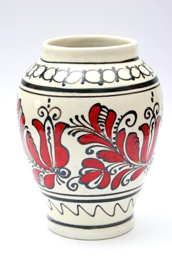 Ein Vase auf Weiß lizenzfreie stockfotografie