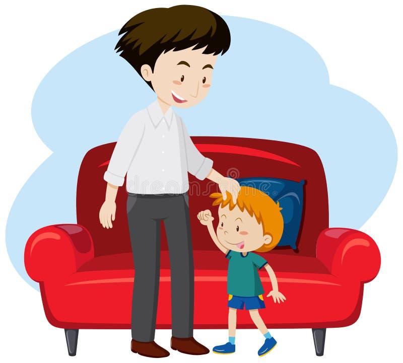 Ein Vater und der Sohn lizenzfreie abbildung