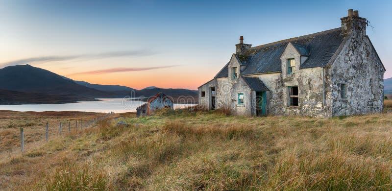 Ein verlassenes Haus auf der Insel von Lewis stockfoto