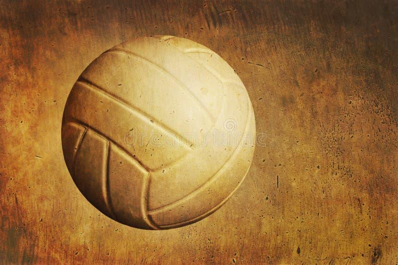 Ein Volleyball auf einem strukturierten Hintergrund des Schmutzes lizenzfreie stockfotos