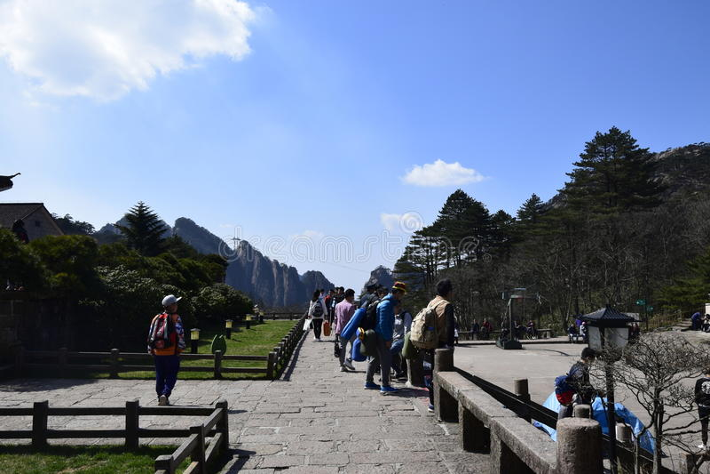 Ein von Huangshan stockbilder