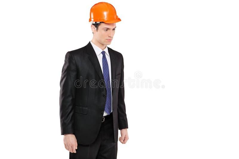 Ein Vorarbeiter in einem Klageschauen lizenzfreies stockfoto