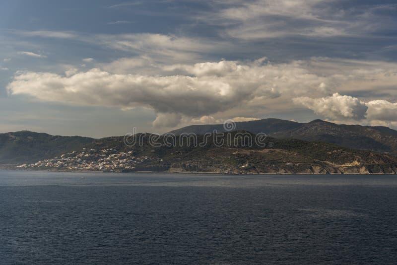 Ein Vorort von Algesiras Spanien von der Königin Elizabeth stockbild