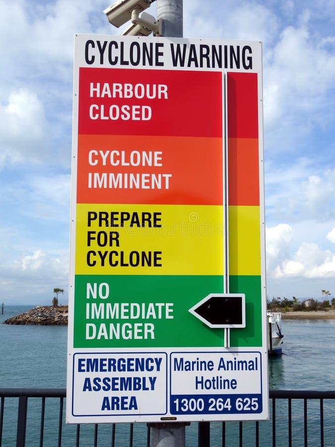 Ein Warnzeichen in Form eines Armaturenbretts, das Leute zur Gefahr von alarmiert stockfoto