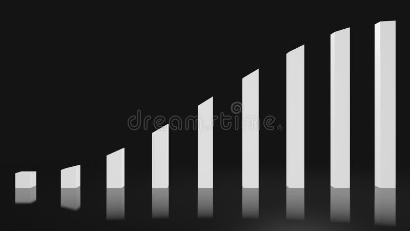 Ein weißes glattes steigendes Diagramm vektor abbildung