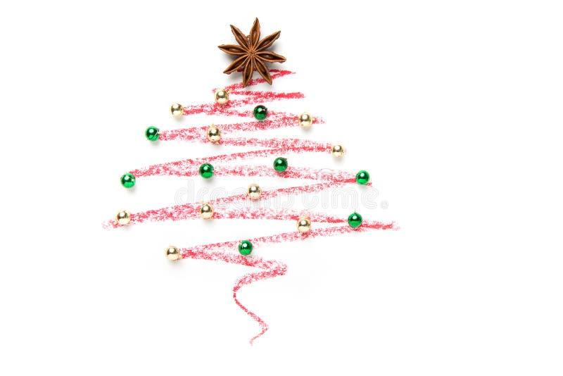 ein weihnachtsbaum gezeichnet stockfoto bild von. Black Bedroom Furniture Sets. Home Design Ideas
