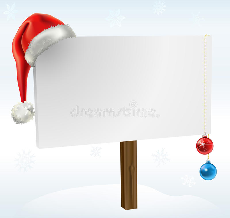 Ein Weihnachtszeichen lizenzfreie abbildung