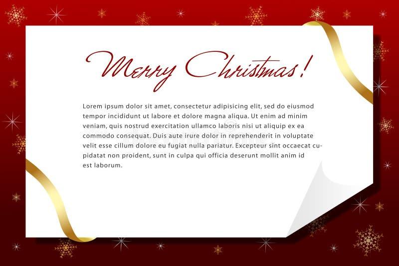 Ein Weihnachtszeichen stock abbildung