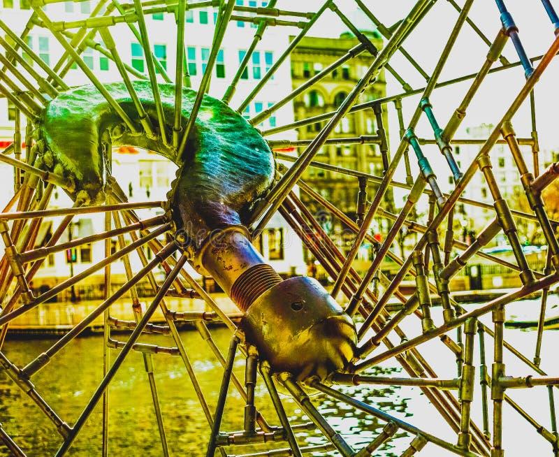Ein wenig Kameraspiel mit Skulpturkunst lizenzfreies stockfoto