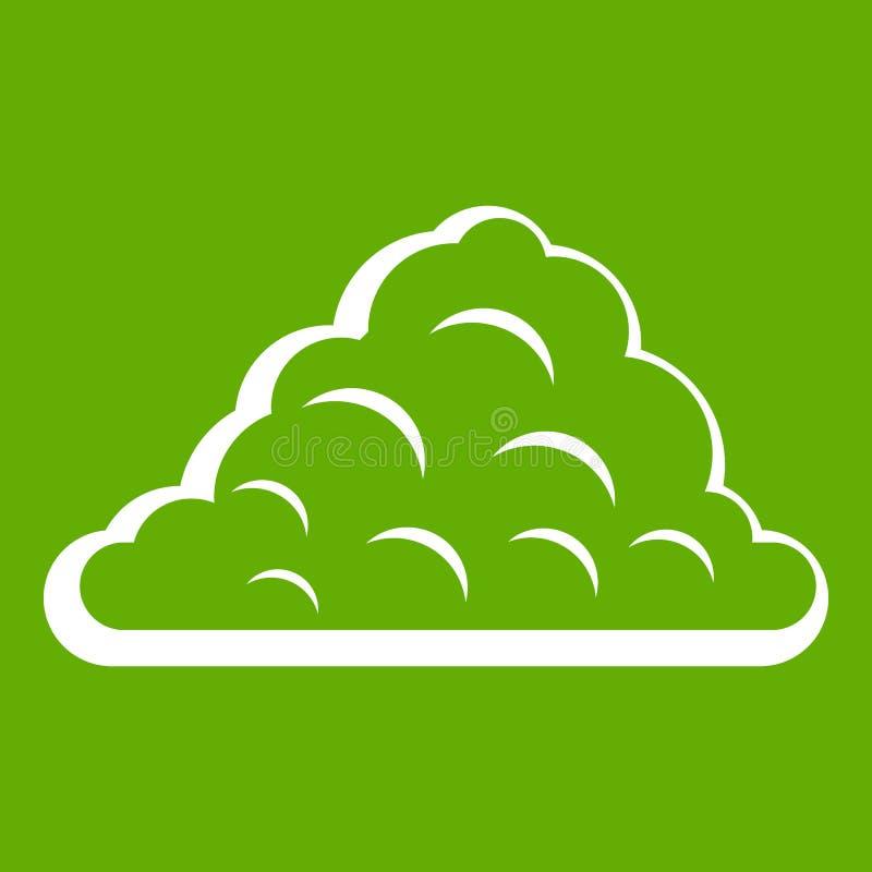 Ein Wolkenikonengrün vektor abbildung