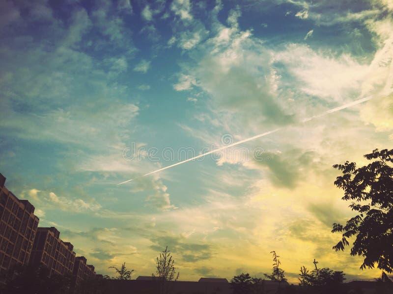 Ein Wolkenpfeil stockbilder