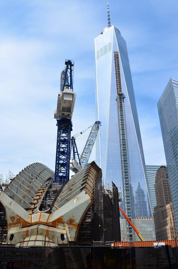 Ein World Trade Center-Bau stockfotografie