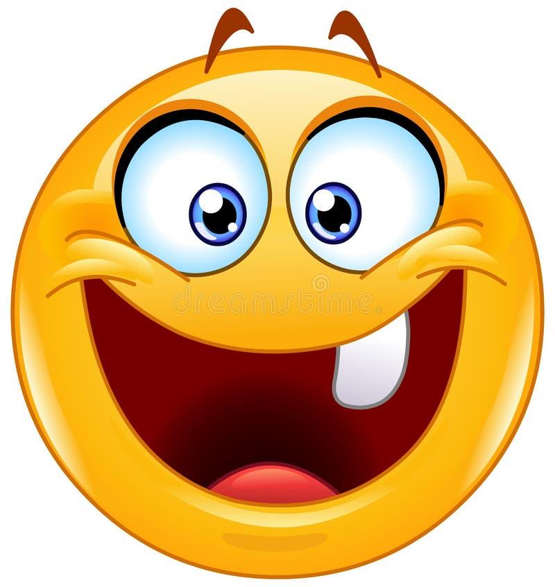 Ein Zahn Emoticon vektor abbildung