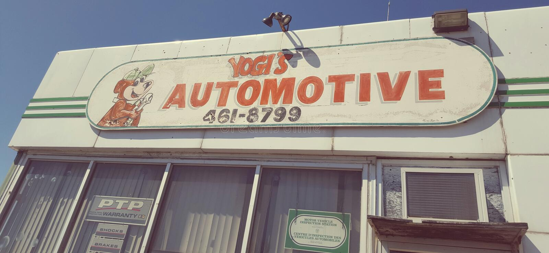Ein Zeichen einer Auto-Werkstatt stockfoto
