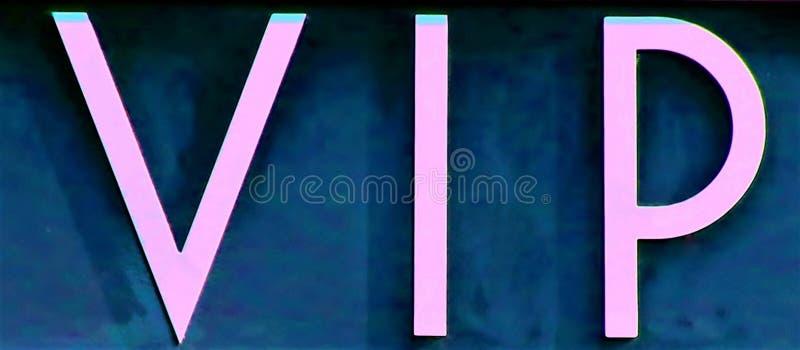 Ein Zeichen mit Buchstaben vip lizenzfreie stockfotos