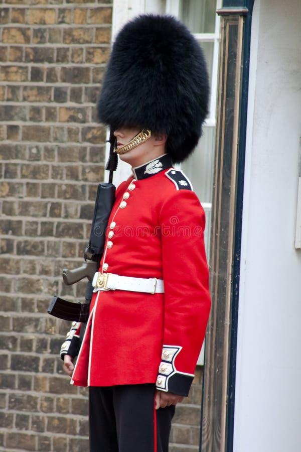 Ein zeremonielles bewaffnete Wache, London lizenzfreies stockbild