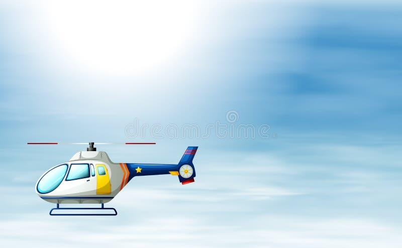 Ein Zerhacker im Himmel stock abbildung