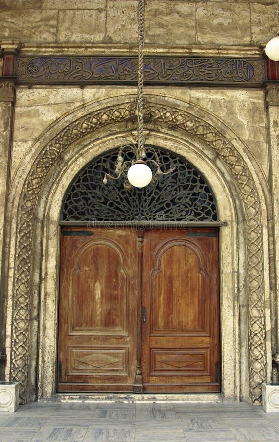 Ein Zugang Mohamed Ali-Moschee lizenzfreie stockbilder