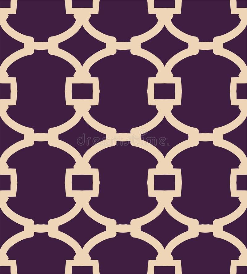 Ein zweifarbiges Muster des einfachen Gitters des Vektors lizenzfreie abbildung