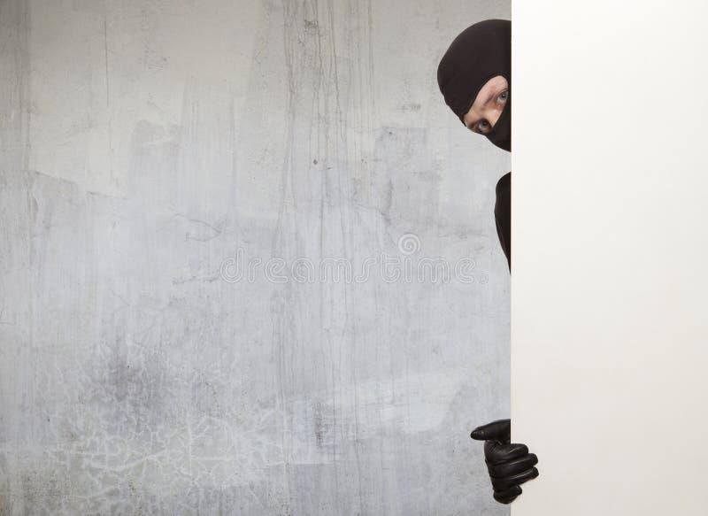 Einbrecher, Ninja stockbild