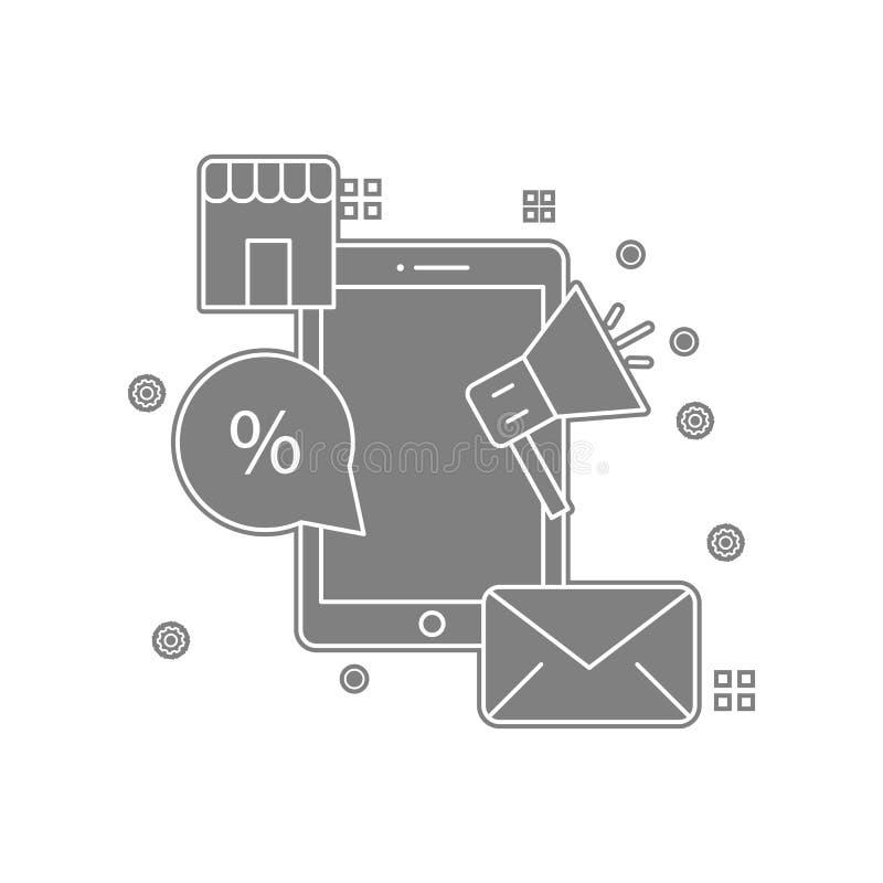 einbrennen, Kommunikation, Marktikone Element von popicon für bewegliches Konzept und Netz Appsikone Glyph, flache Ikone für Webs lizenzfreie abbildung