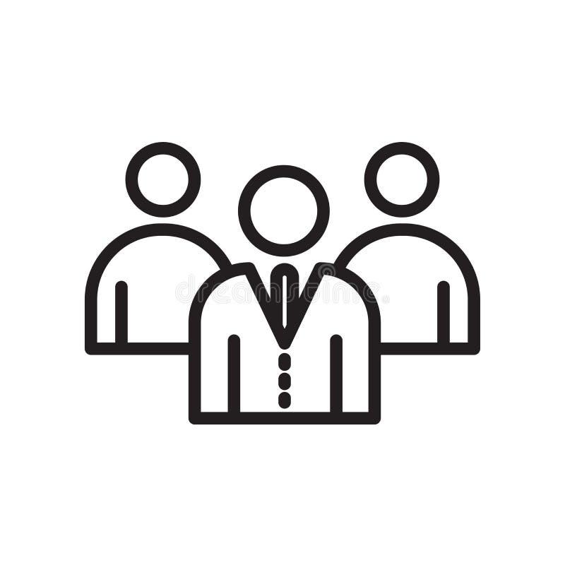 einbrennende Ikone des Arbeitgebers lokalisiert auf weißem Hintergrund lizenzfreie abbildung
