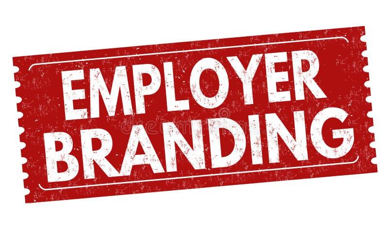 Einbrennendes Zeichen oder Stempel des Arbeitgebers lizenzfreie abbildung