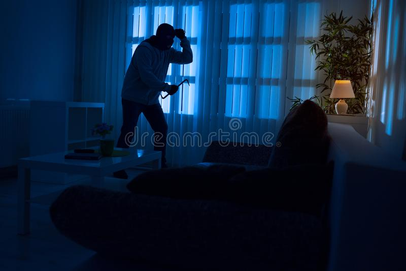 Einbruch im Haus lizenzfreie stockfotos