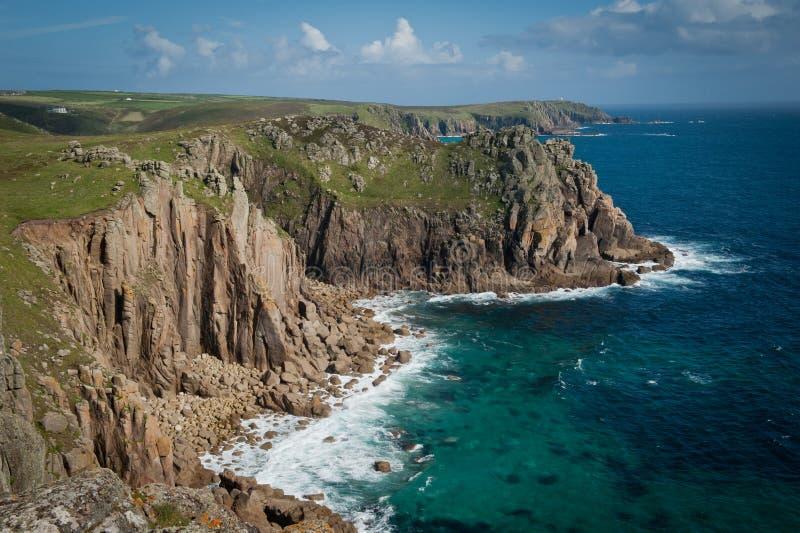 Eind het van Cornwall van het Land van de Kust royalty-vrije stock foto