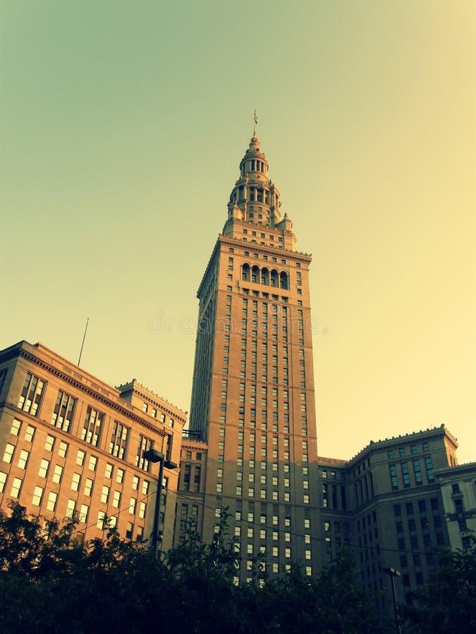 Eind Toren in Cleveland stock afbeelding