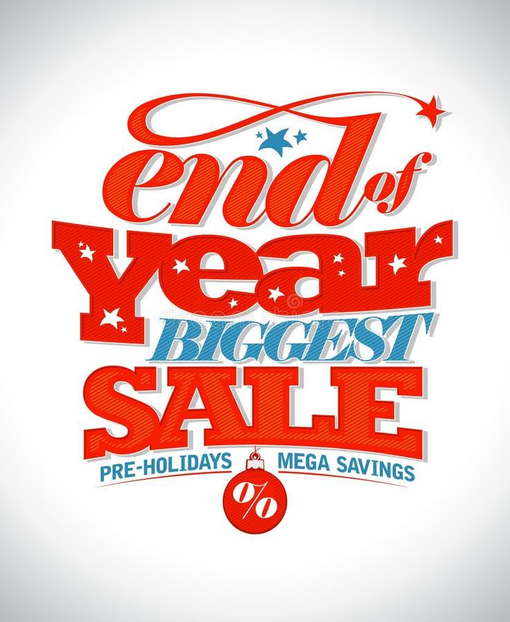 Eind van banner van de jaar de grootste verkoop royalty-vrije illustratie