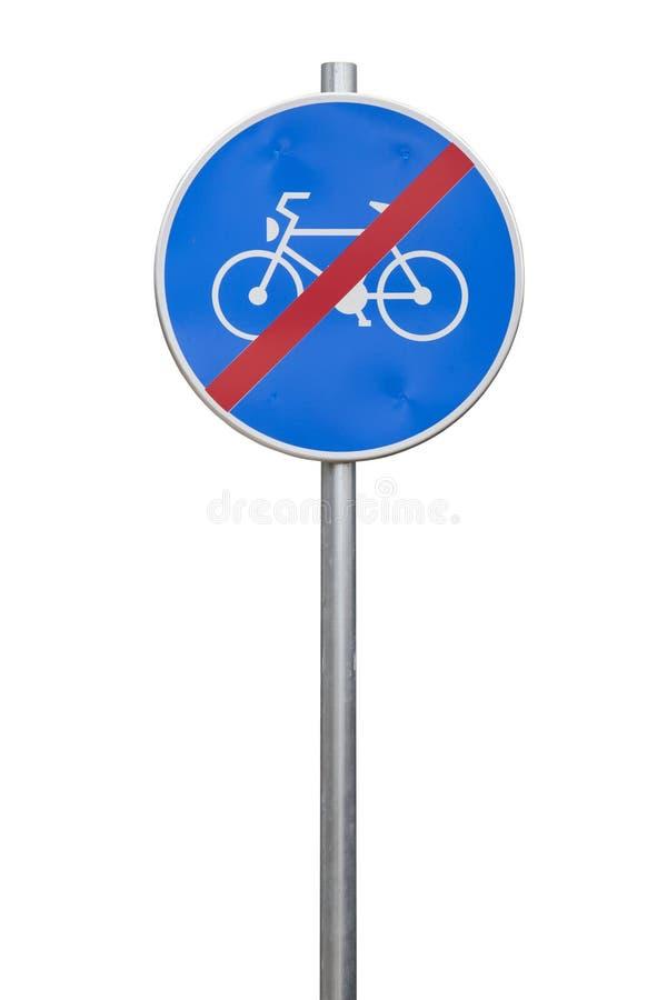 Eind van fietsweg stock afbeelding