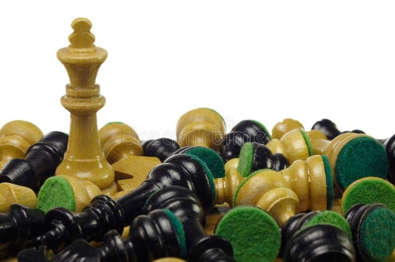 Eind van schaakspel royalty-vrije stock afbeeldingen