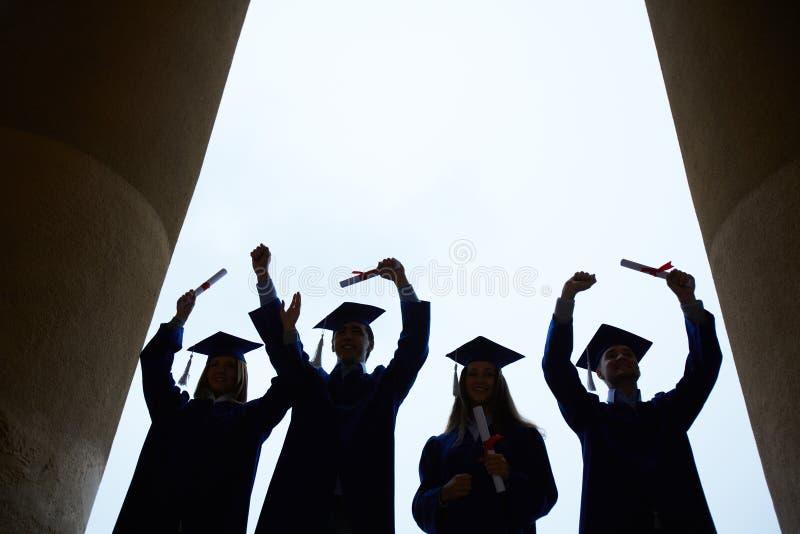 Eind van universiteit royalty-vrije stock fotografie