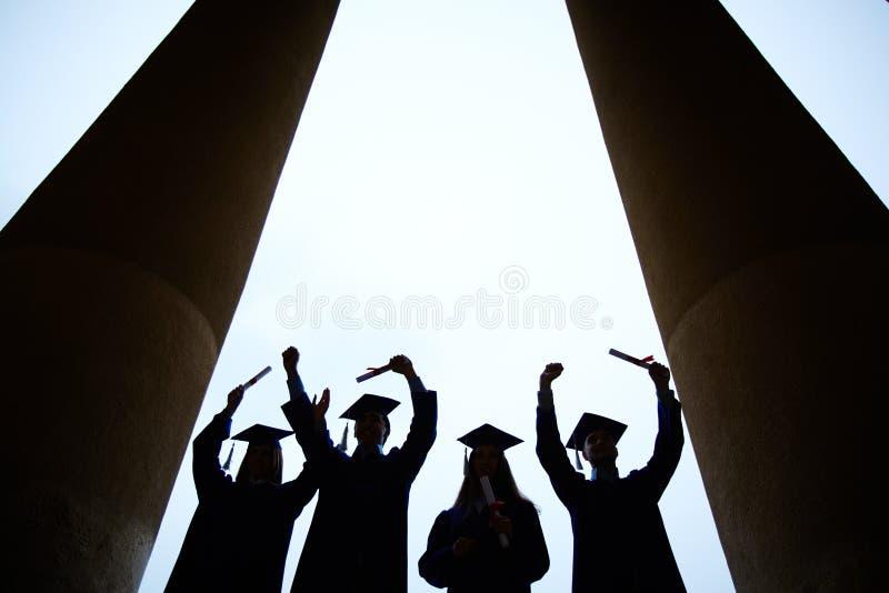 Eind van universiteit royalty-vrije stock afbeelding