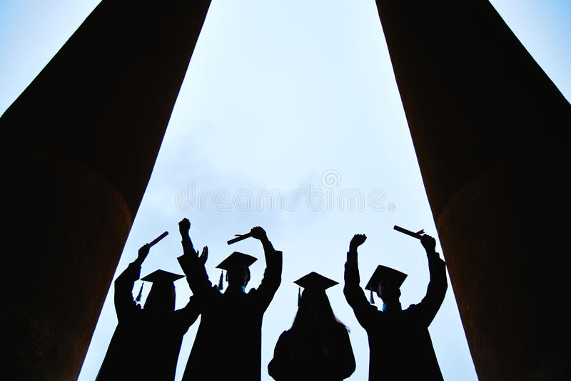 Eind van universiteit royalty-vrije stock foto's