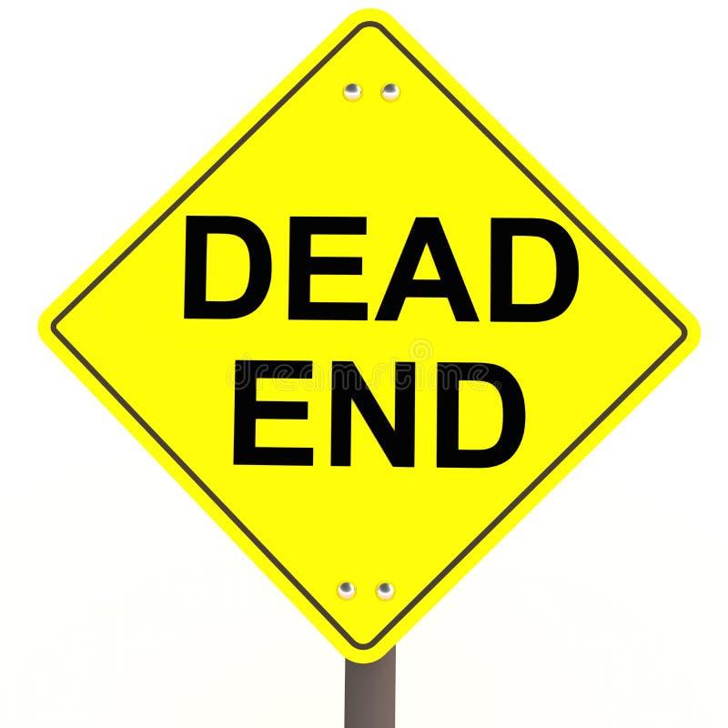 Eind van weg stock illustratie