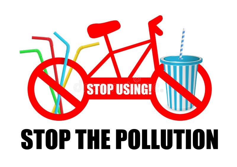 Einde die Einde gebruiken de verontreiniging Illustratie van het verbod stock illustratie