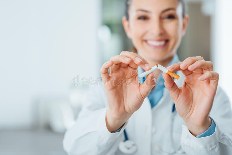 Einde die voor uw gezondheid roken royalty-vrije stock afbeeldingen