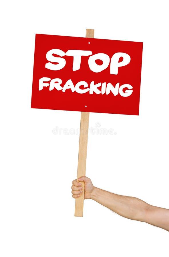Einde het fracking stock foto