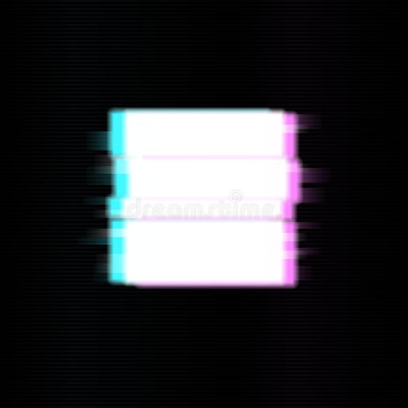 Eindeknopen in glitch stijl Abstract minimaal malplaatjeontwerp voor het brandmerken Moderne achtergronddekkingsaffiches, banners stock illustratie