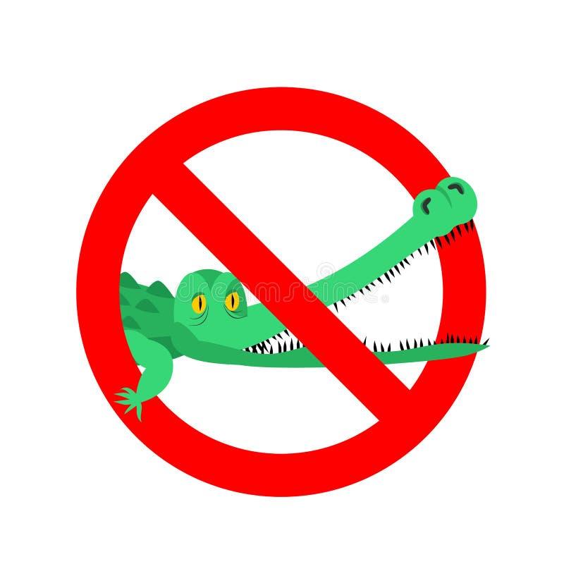 Eindekrokodil Belemmerde alligator Strikethroughkaaiman Embl royalty-vrije illustratie