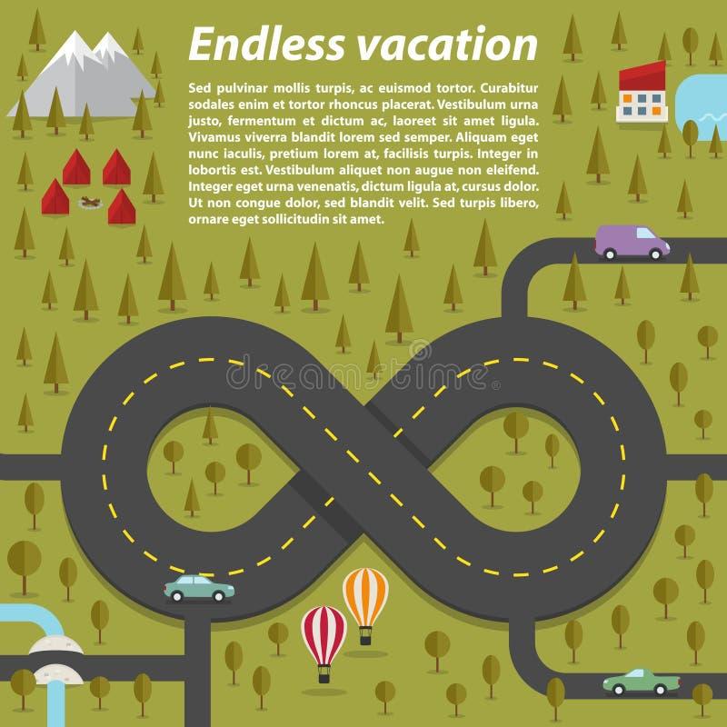 Eindeloze vakantie royalty-vrije illustratie